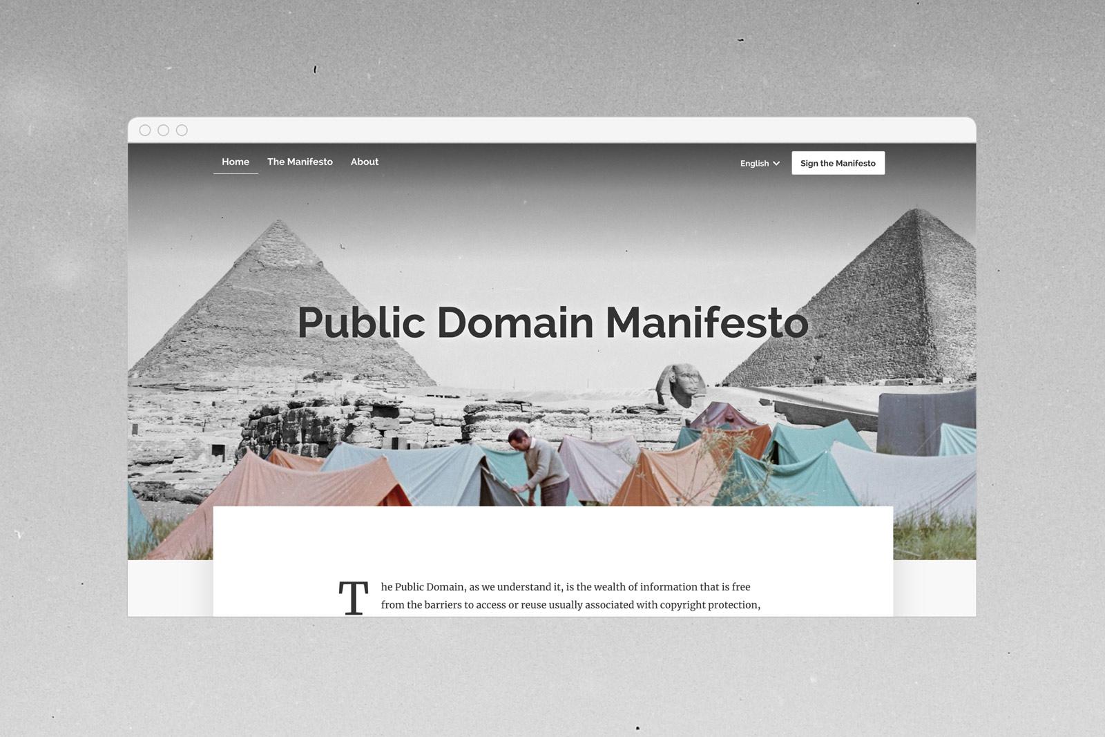 Public Domain Manifesto