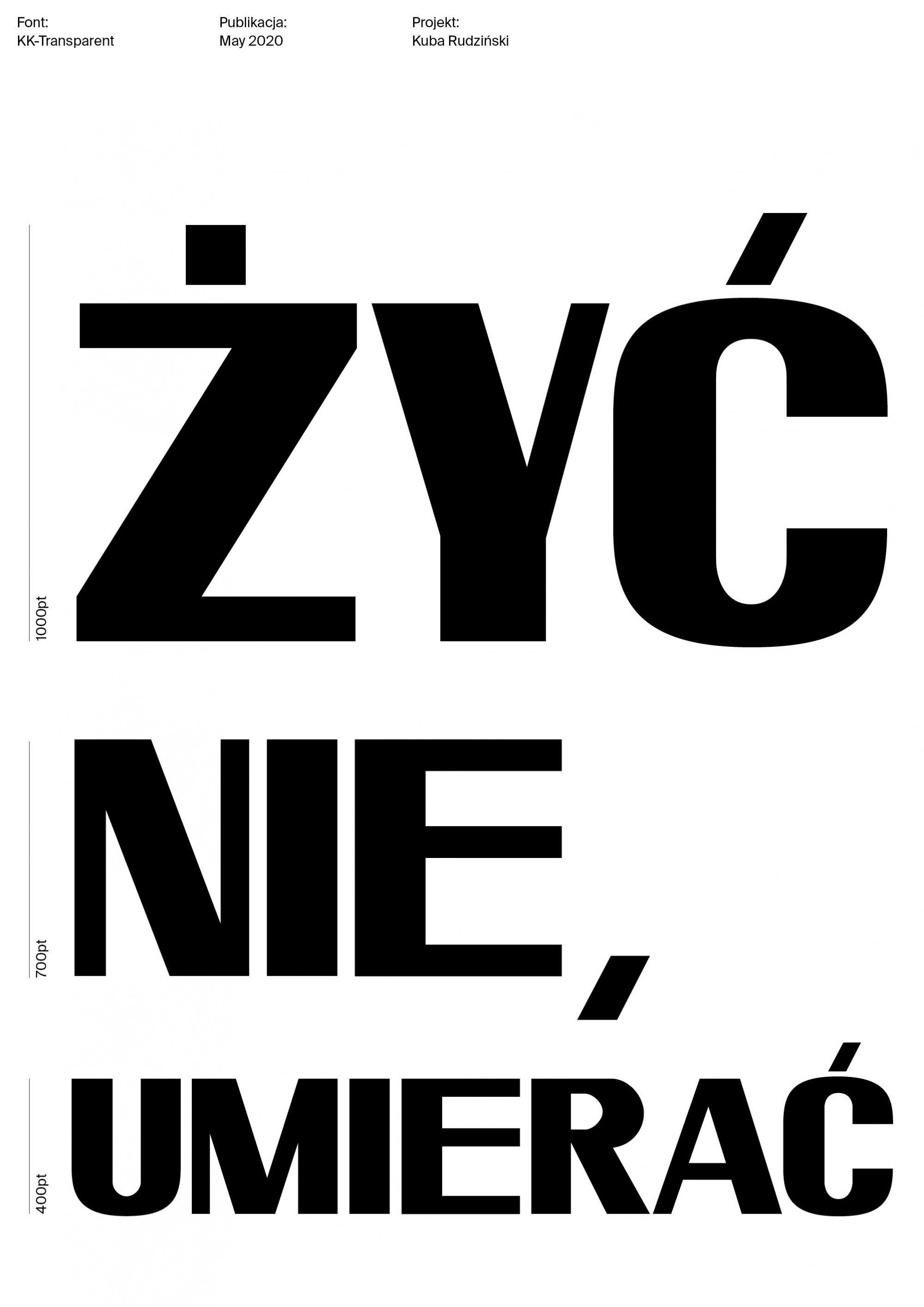 Transparent typeface